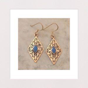 Jewelry - New! | Antique Style Howlite & Brass Drop Earrings